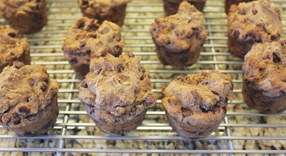 Chocolate Chip Muffins cooling using Otto's Paleo & Vegan Cassava flour