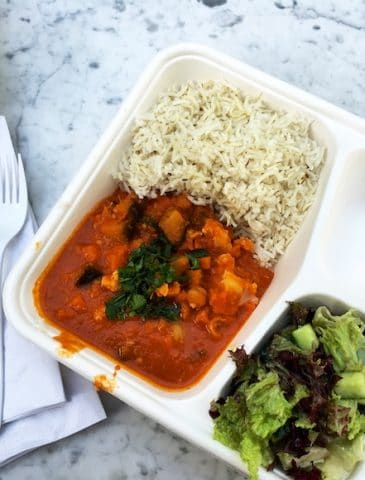 Vegan Indian lunch at Apple