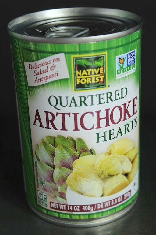 Artichoke hearts as part of my healthy salad toppers (gluten, dairy-free)