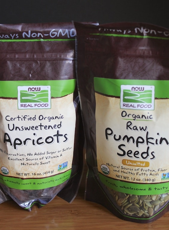 NOW Foods apricots and pumpkin seeds