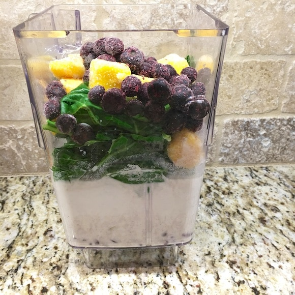 Green smoothie layers
