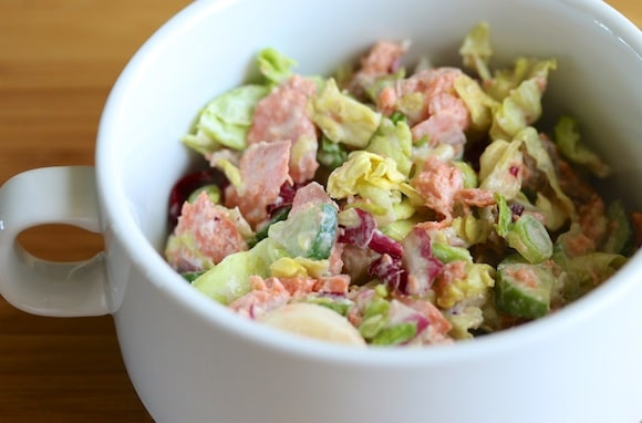Salmon salad with pickles
