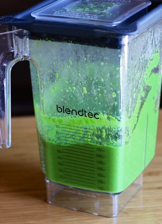 Blended broccoli