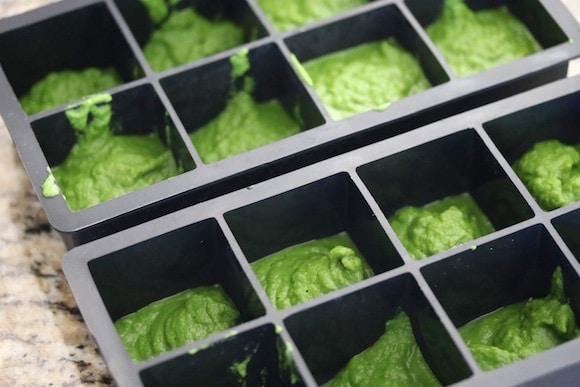 Broccoli cubes