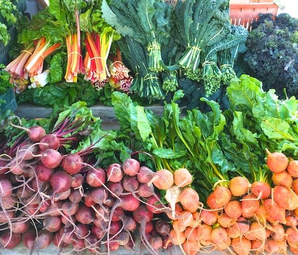 Farmers market veggies