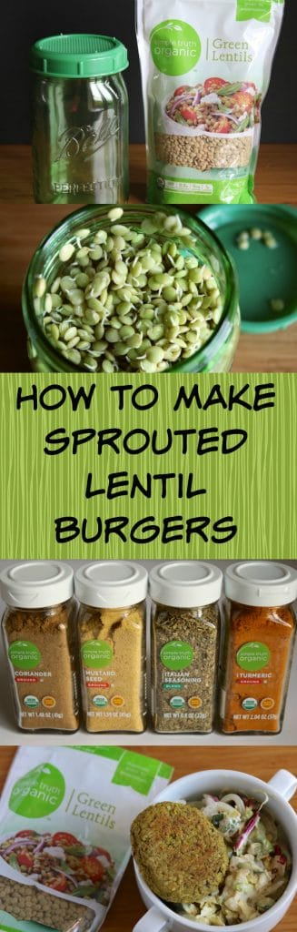 How to Make Sprouted Lentil Burgers that are vegan and gluten-free