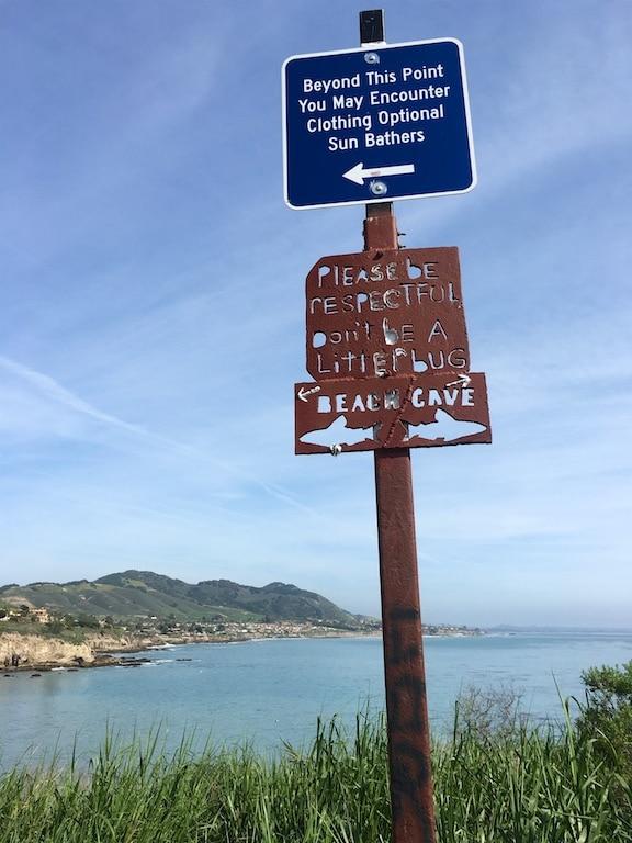 Pirates Cove nude beach warning