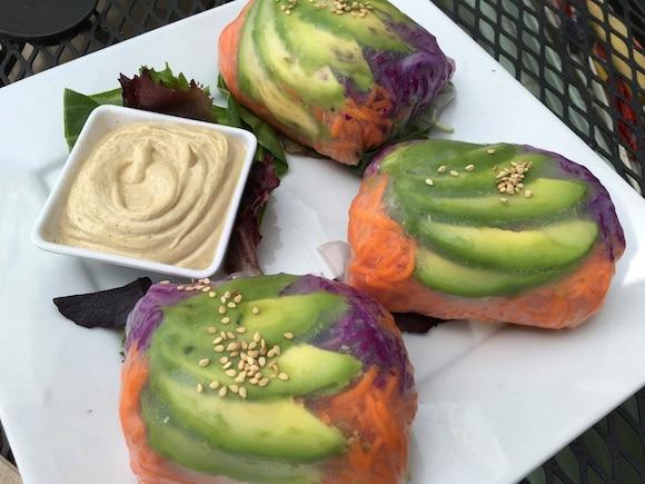 Shine cafe veggie rolls
