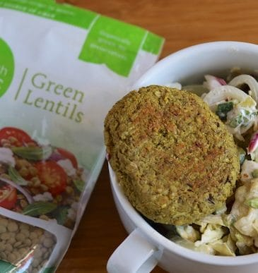 Sprouted Lentil Burgers