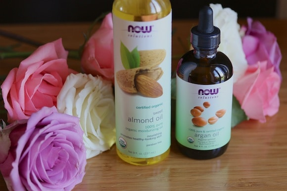 NOW almond and argan oils