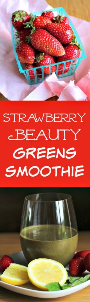 Strawberry Beauty Greens Smoothie for a dairy-free, paleo breakfast