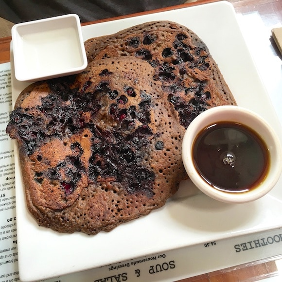 Buckwheat blueberry pancakes