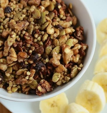 Chocolate Buckwheat Granola bowl