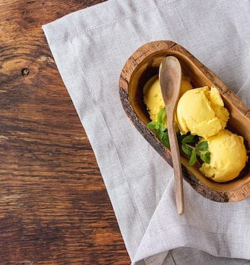 Dairy-free mango ice cream