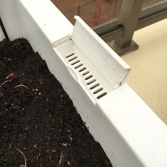 GlowPear patio garden boxes with self-watering vents