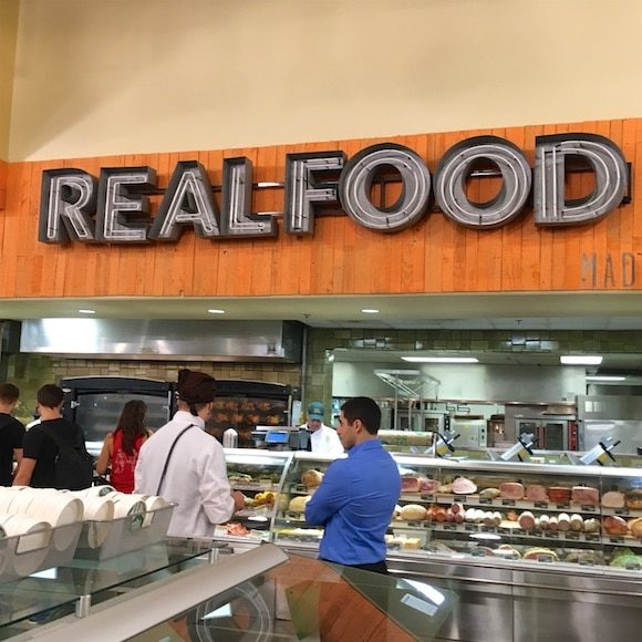 Real Food sign
