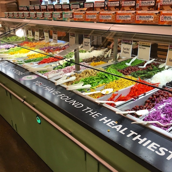 Whole Foods organic salad bar