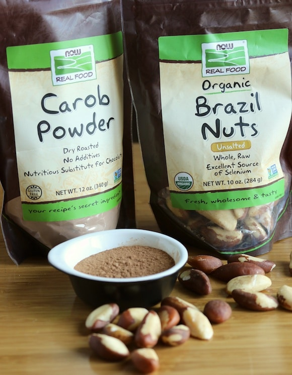 Brazil nuts and carob powder