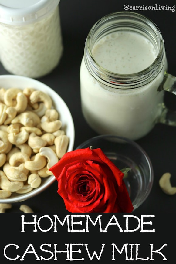 How to make homemade, dairy-free cashew milk for sweet or savory recipes. No straining required for this vegan and paleo-friendly milk.