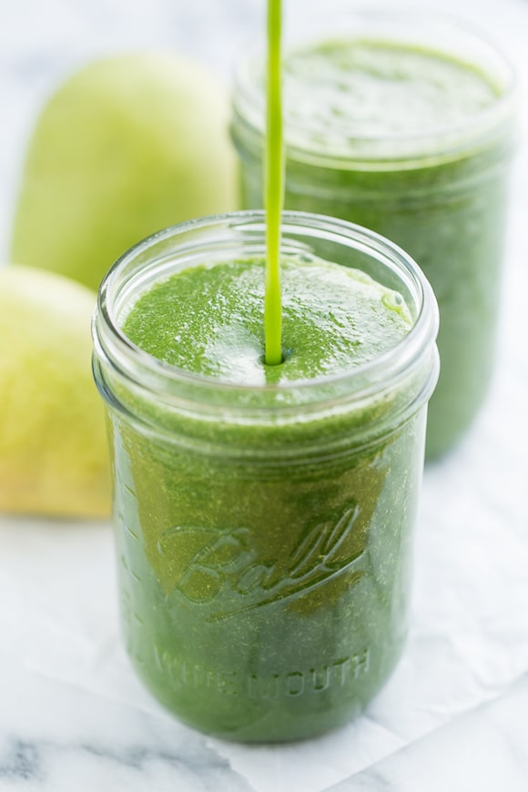 Ginger Pear Green Smoothie from Get Inspired Everyday