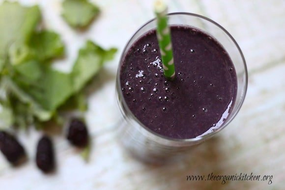 Blackberry and Baby Kale Smoothie