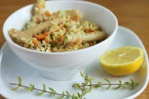 Lemony Lentil Pasta Salad