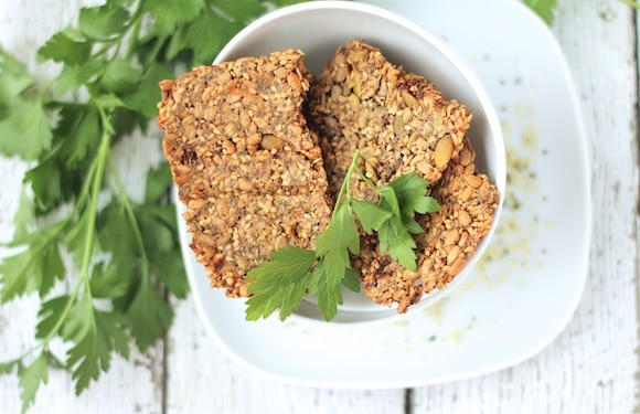 Super-Seed Crackers from the Oh She Glows Every Day cookbook overhead