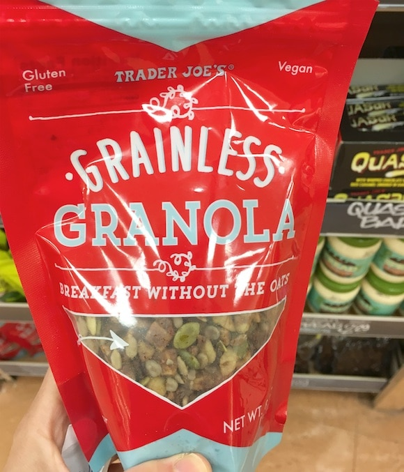 Grain-free granola as part of my 5-minute meal shopping from Trader Joe's