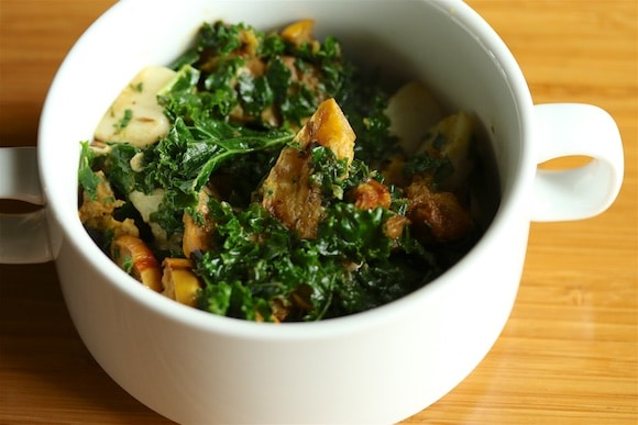 Kale Salad with squash and chicken