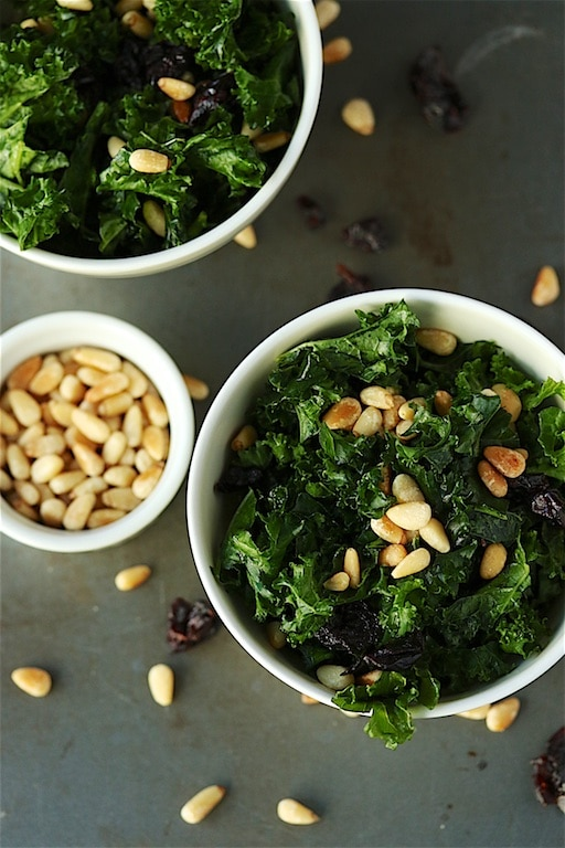 Date-Nut Kale Salad for an easy side dish. Add your favorite protein to make this a full meal!