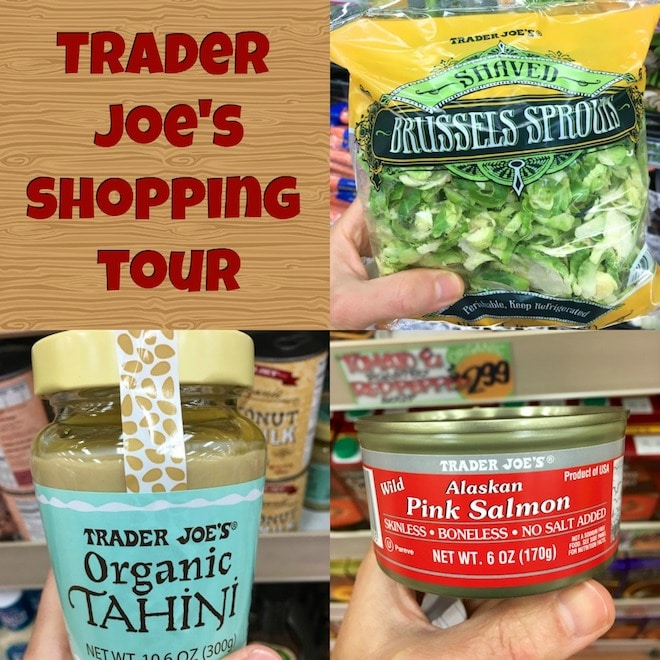 Foods to buy to make a healthy, 5-minute meal at Trader Joe's.