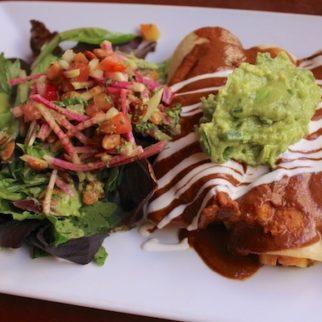 Candle 79 vegan and gluten-free enchiladas