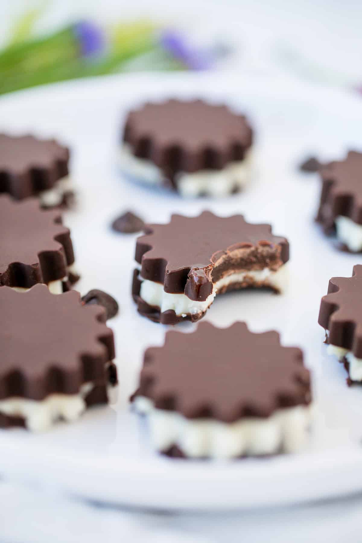plate with peppermint patties