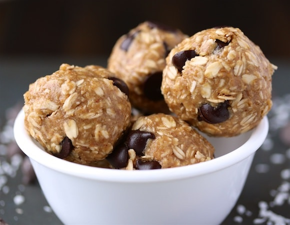 Peanut Butter Protein Bites in a bowl