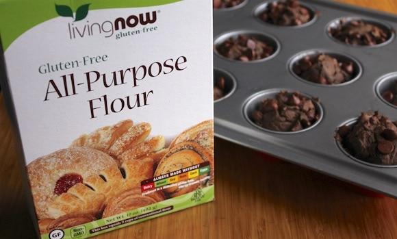 Double Chocolate Banana Muffins glutenfree mix