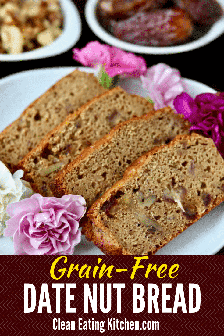 Paleo Grainfree Date Nut Bread