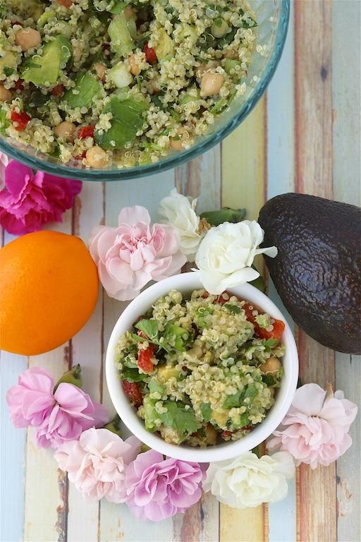 Quinoa Chickpea Spring Salad