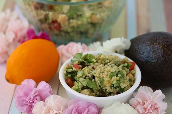 Spring Quinoa Chickpea Salad