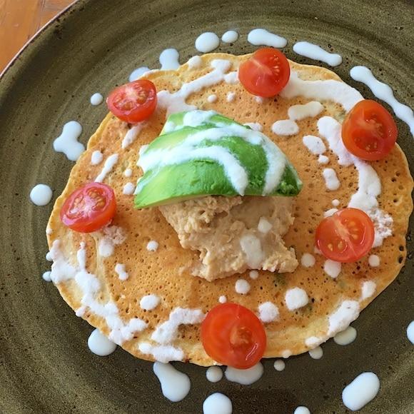 Vegan chickpea pancake