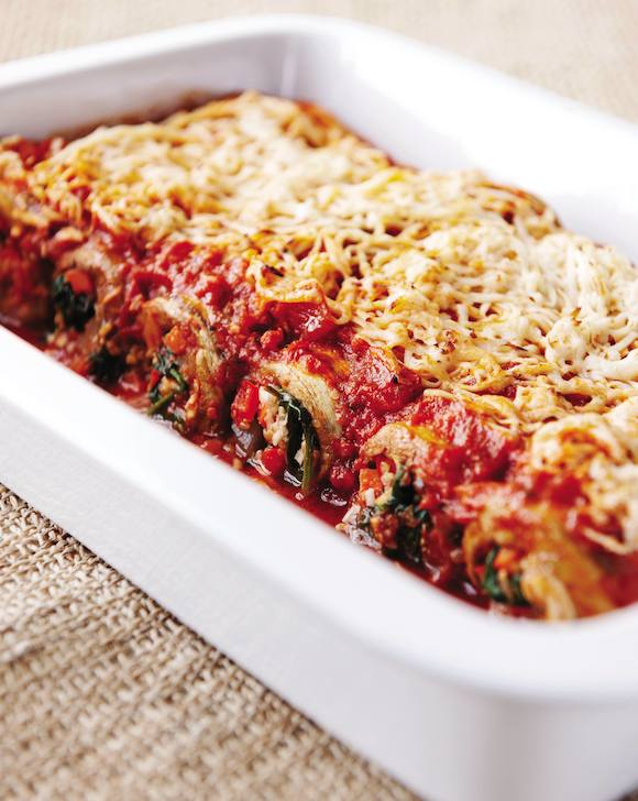 Vegan Eggplant Cannelloni from the Eat to Live Cookbook