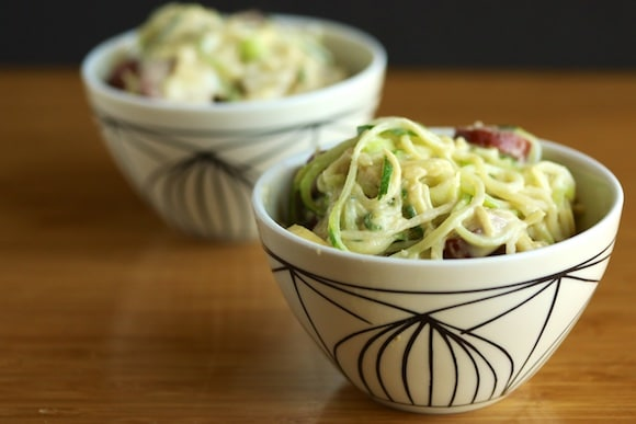 More Creamy Zoodles with sausage