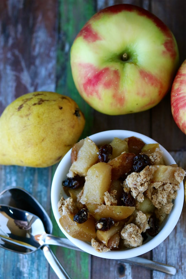 apple pear cobbler vegan