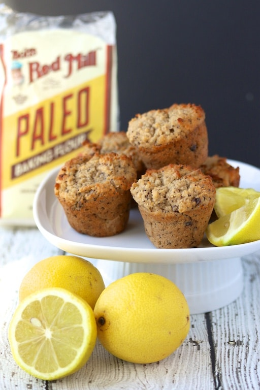 Lemon Poppy Seed Muffins using paleo flour
