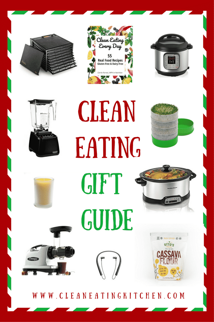 A gift guide for the clean eating kitchen. Fun gadgets that make healthy eating easier. | Clean eating, healthy kitchen, kitchen tools. #giftguide #cleaneating #holidays #shopping