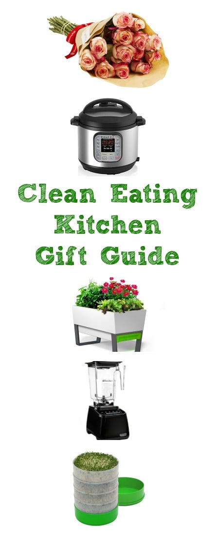 A gift guide for the clean eating kitchen. Fun gadgets that make healthy eating easier. | Clean eating, healthy kitchen, mother's day gift ideas, kitchen tools.
