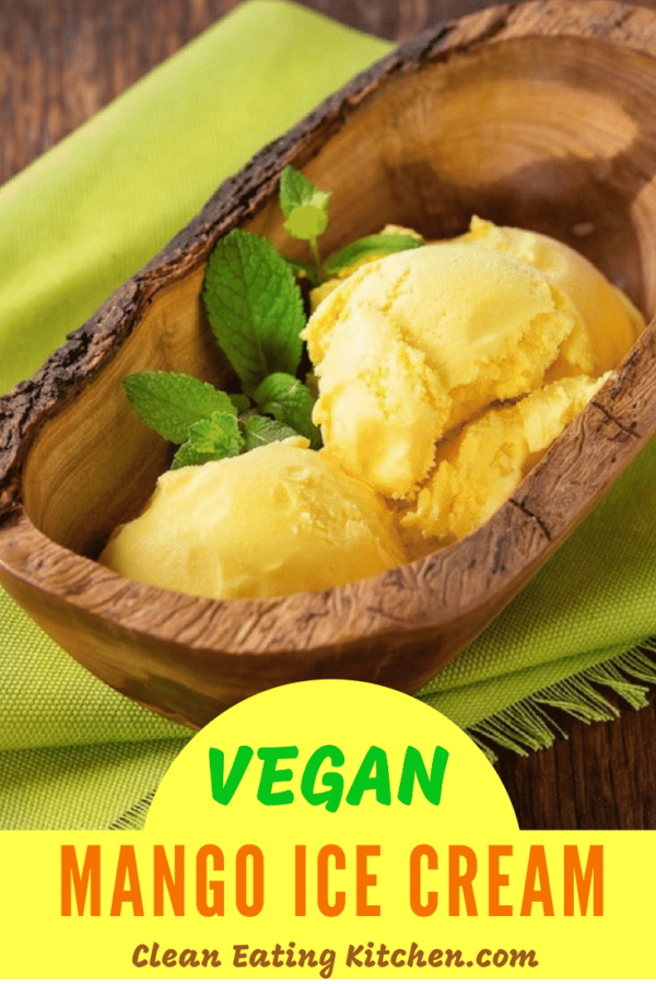 Vegan mango ice cream
