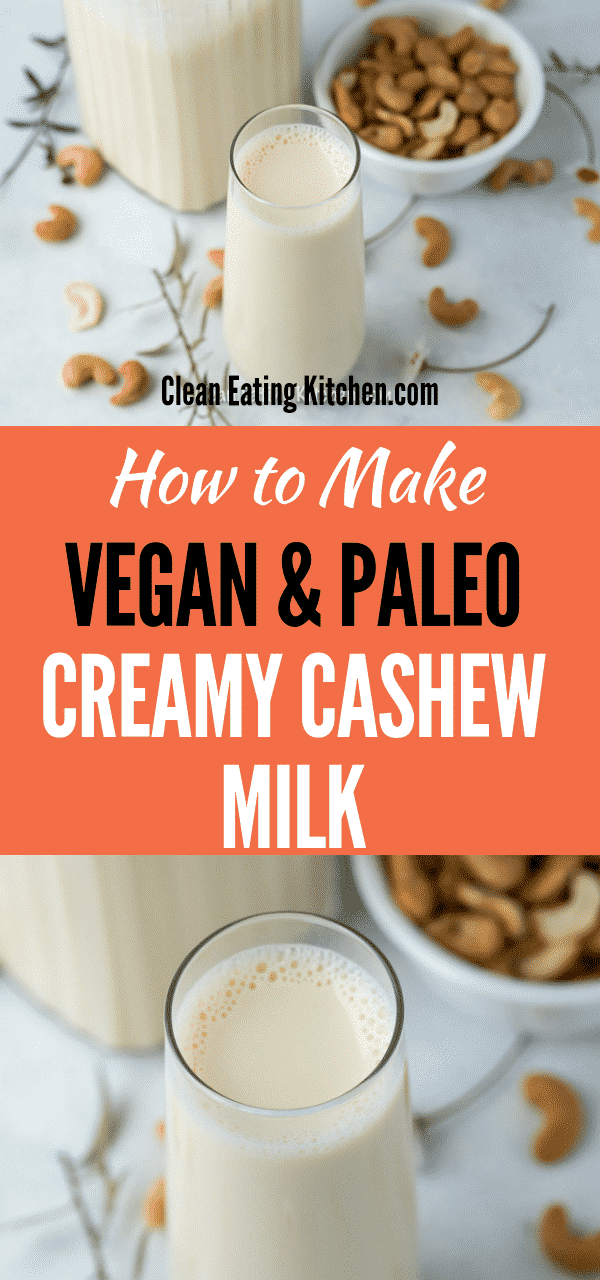 creamy cashew milk