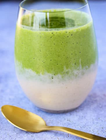 Matcha Energy Green Smoothie {Dairy-Free, Paleo}