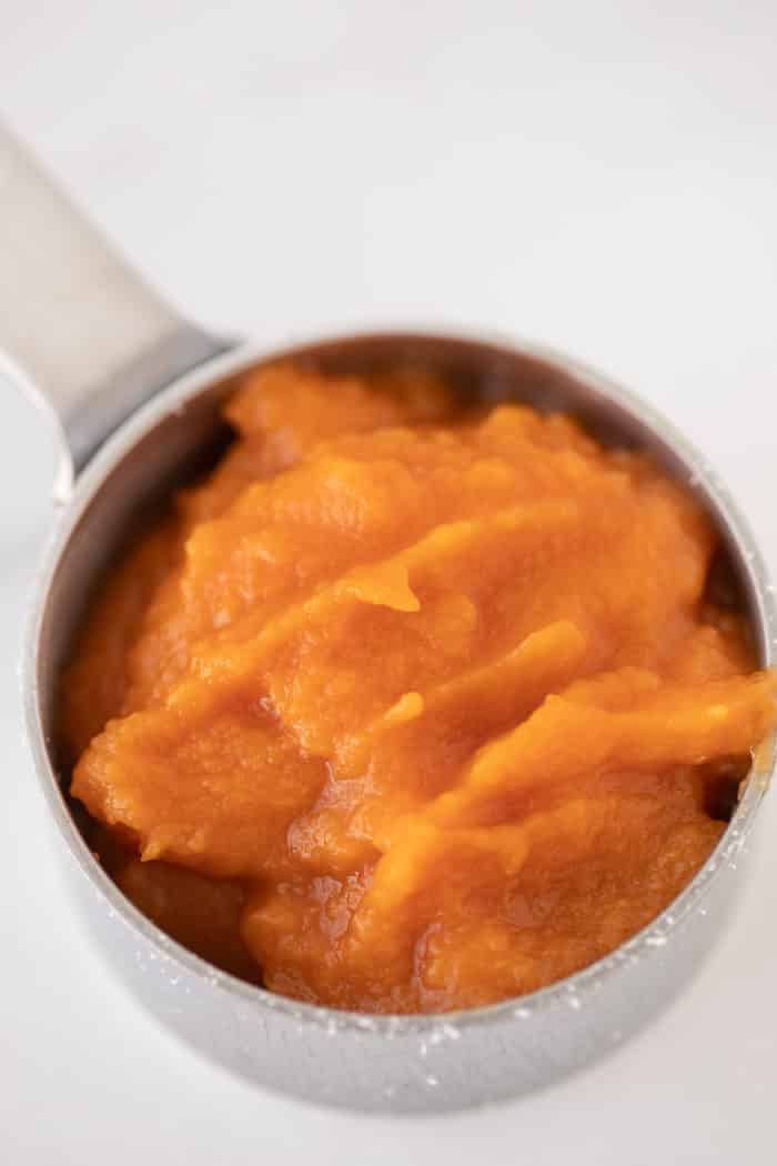 quarter cup of pumpkin puree