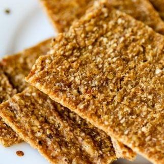 Apple Flax Cracker Cookies
